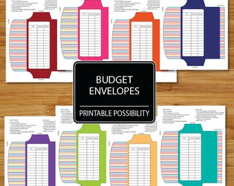 Cash Envelopes Set of 8  - Budget Envelopes - Budgeting Envelopes - Coordinates with Money Budget and Bills Set MBBD01