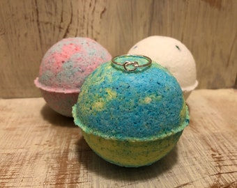 Relaxing Scented Bath Bomb with Surprise Sterling Silver Ring