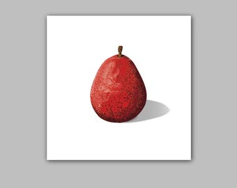 Red Anjou Pear - Still Life