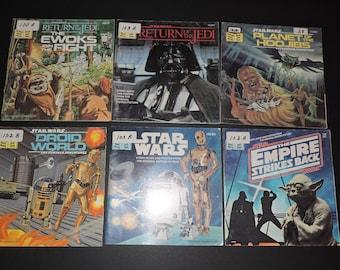 7x Star Wars Children's Books - Planet Of The Hoojibs, Return of the Jedi, Droid World, Ewoks, Etc.