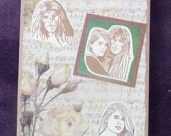 The Music of Romance (Beauty & the Beast) Handmade Card
