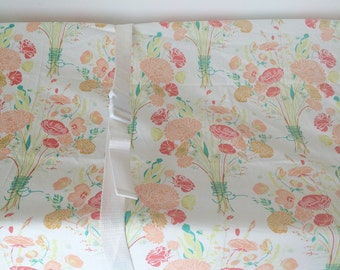 SALE Girls Baby Bedding - Floral Crib Sheet - Mini Baby Sheets / Changing Pad Covers /Flower Bouquet Crib Bedding /Coral Green Nursery Sheet