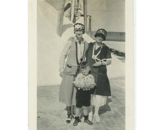 Vintage Snapshot Photo, 1920s: They Made Him Wear the Pirate Shirt... [84664]