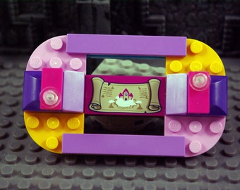Crazy Multi-colored Fridge Magnet Handmade from Lego bricks
