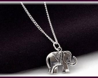 Elephant necklace, elephant Charm necklace, silver elephant necklace, elephant jewelry, girls elephant necklace, elephant gifts