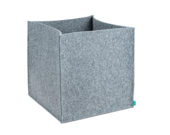 Record storage, vinyl record storage, felt storage box, storage bin, storage basket, felt bin, Gopher