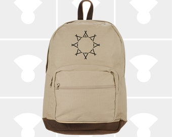 Tent Sun - Leather Bottom Laptop Backpack