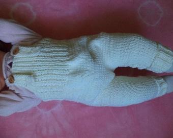 Bib & brace Dungarees Merino Wool baby