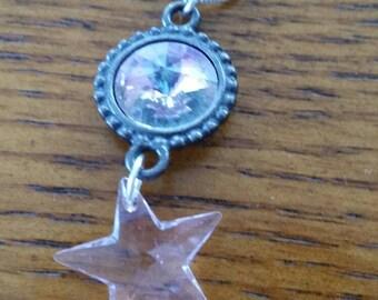 Little Pink Swarovski Crystal Star Pendant