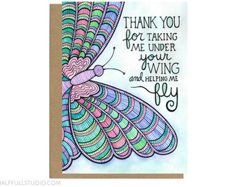 Mentor Card, Mentor Gift, Mentor Thank You, Teacher Mentor Card, Mentor Appreciation, Teacher Card, Butterfly Card, Boss Thank You, Mentor