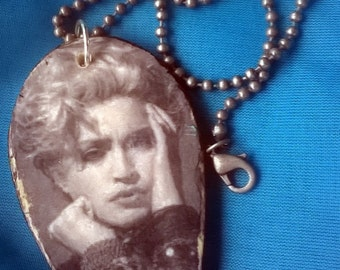 Madonna Decoupage Necklace 18 inch Ball Chain