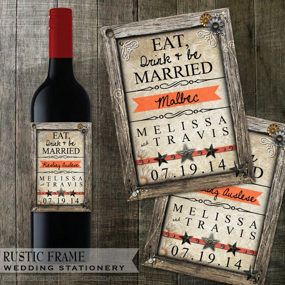 rustic wedding wine bottle labels avery labels