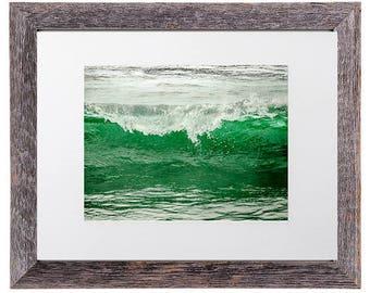 Ocean Wave Print, Ocean Wave Photography, Ocean Wave Photo, Emerald Green Decor, Surf Decor, Surfer gift, Wave Print, Wave Photography
