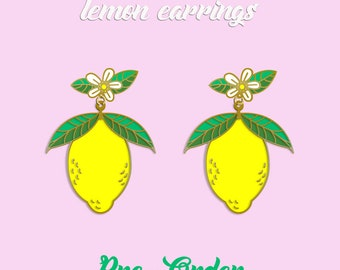 lemon earrings pre order