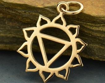 Solar Plexus Chakra Charm - Natural Bronze