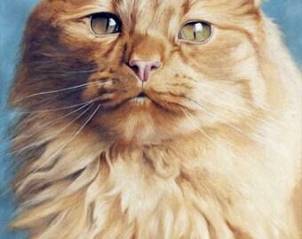 Custom pet portrait, cat portrait, cat Painting - oil painting on stretched canvas. ***Lowest price is 50% DEPOSIT price***