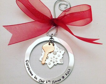 Housewarming Gifts - Christmas Home Decor - Christmas Ornament New Home Owner - Personalized - Housewarming Ornaments - Christmas Decor