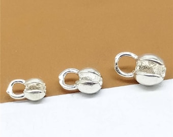 30 Sterling Silver Crimp Cover Beads, 925 Silver Crimp Beads, Cover Beads - QY1269