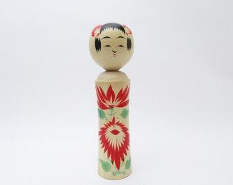 Vintage Kokeshi Doll.Naruko Traditional.by Chuji Kudo.Japanese FolkArt.WoodenCraft.Local toys.210mm.#394.msjapan