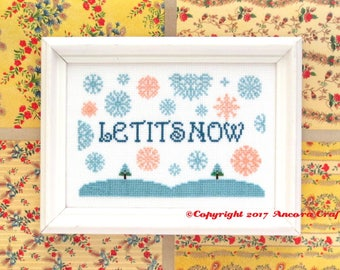 Let it Snow Christmas SNL Celebrity Jeopardy Cross Stitch Pattern PDF
