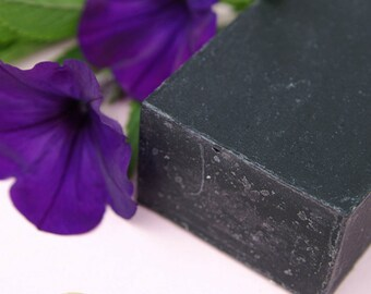 Activated Charcoal Black Soap - Acne Care - Unscented, Acne Face Soap, Vegan Facial Soap Bar, Oily Skin Cleanser, Black Soap, Fragrance Free