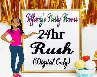 24 Hour Rush Fee-Please contact me first before adding the rush fee to the cart