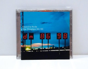 Depeche Mode - The Singles 2CD Set 1998 Vintage Two Compact Disc Set 86 - 98 Compilation Reissue 80s New Wave Electronic Dance Mohawk Music