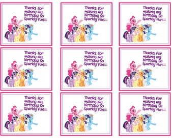 My Little Pony Thank You Cards Digital Download