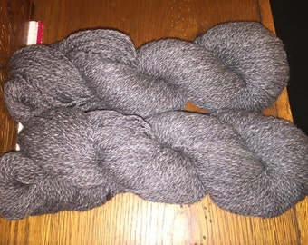 Medium Grey Shetland and Alpaca yarn- 250 yards
