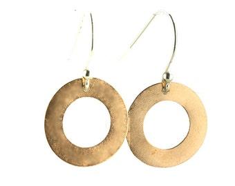 Copper cirkel earrings, cupper earring, cirkel earring
