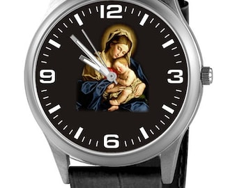 Personalized watch with the Virgin Mary, custom watch
