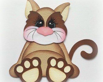 premade paper piecing  cat stuffies scrapbooking embellishment by My tear bears by Kira