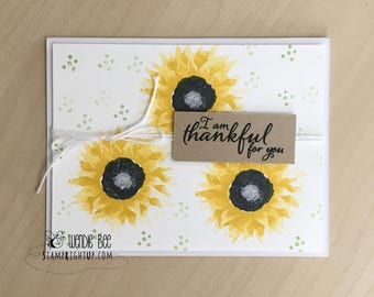 Sunflower Thankful For You Just Because Card