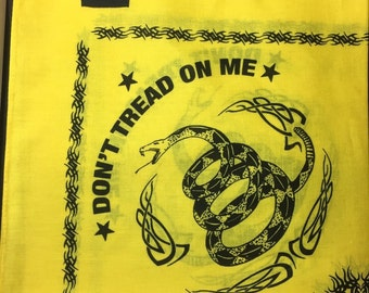 Dont tread on me bandana yellow