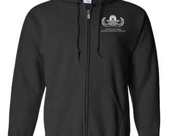 Explosive Ordinance Disposal EOD Embroidered Hooded Sweatshirt w/ Zipper-7704