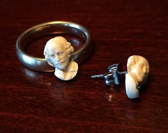 Shakespeare post earrings