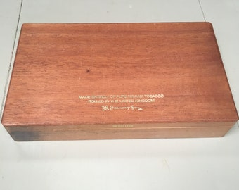 Vintage wooden cigar box JR Freeman&Son Medallion 25 Havana Tobacco