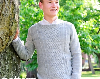 make your own Professor Charles Sweater (DIGITAL KNITTING PATTERN) youth teen adult men