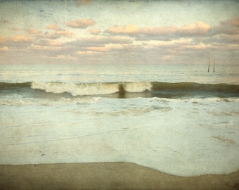 Oversized Large Beach Print or Canvas, Muted Tones, 30x40 or 30x45 or 40x60 Fine Art Photography, Missing No. 1624