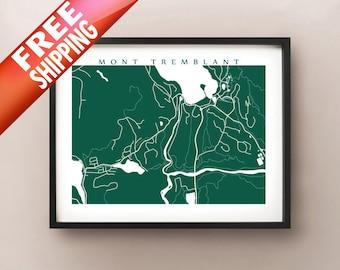 Mont Tremblant Village, Quebec Map Print