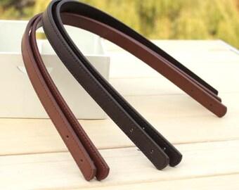 Pair 23 inch PU Leather Handbag Handle,1.4 inches Thick Leather Handles,Bag Handles,Purse Handles,Punch Hole Ready  KZ0313