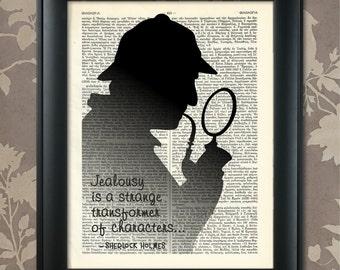 Sherlock Holmes, Quote, Sherlock print, Holmes quote, Sherlock Holmes art, Sherlock poster, Sherlock wall art, Holmes Poster, Holmes Print