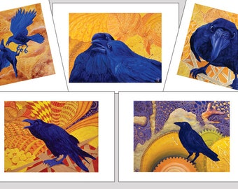 Raven Art Note Card Set B