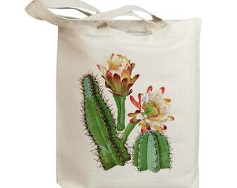 Retro Cactus Flower 05  Eco Friendly Canvas Tote Bag (id6604)