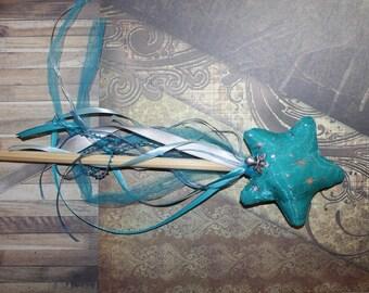 New - four season theme fabric fairy wand: winter