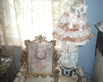 Lovely OOAK Lamp Shade, Shabby Chic, Victorian, Baby's Room, Bird