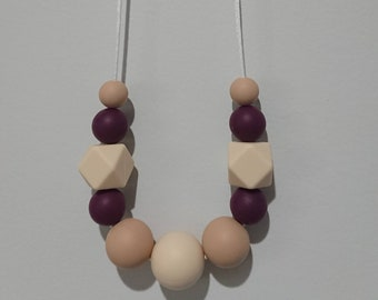 Peanut Butter, Jelly Time Silicone Necklace