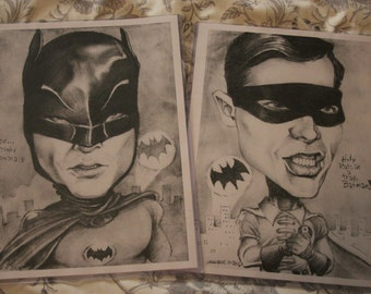 BATMAN & ROBIN art print 2-pack