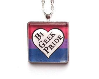 Bi Geek Pride Necklace | Queer Necklace | LGBTQ |