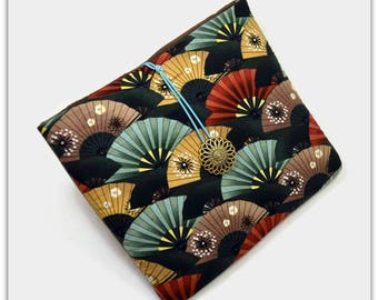 Tablet Case, iPad Mini Cover, Asian, Fans, Kindle Fire 7 Sleeve, 7 inch Tablet Sleeve, Cozy, Handmade, FOAM Padding, 7 inch, Holiday Gift,